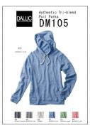 DM105 Authentic Tri-blend Pull Parka XS〜XL 6色展開